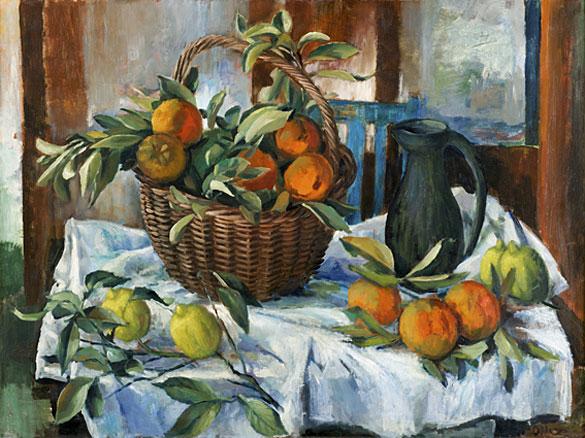 Basket of oranges, lemons and jug 2011
