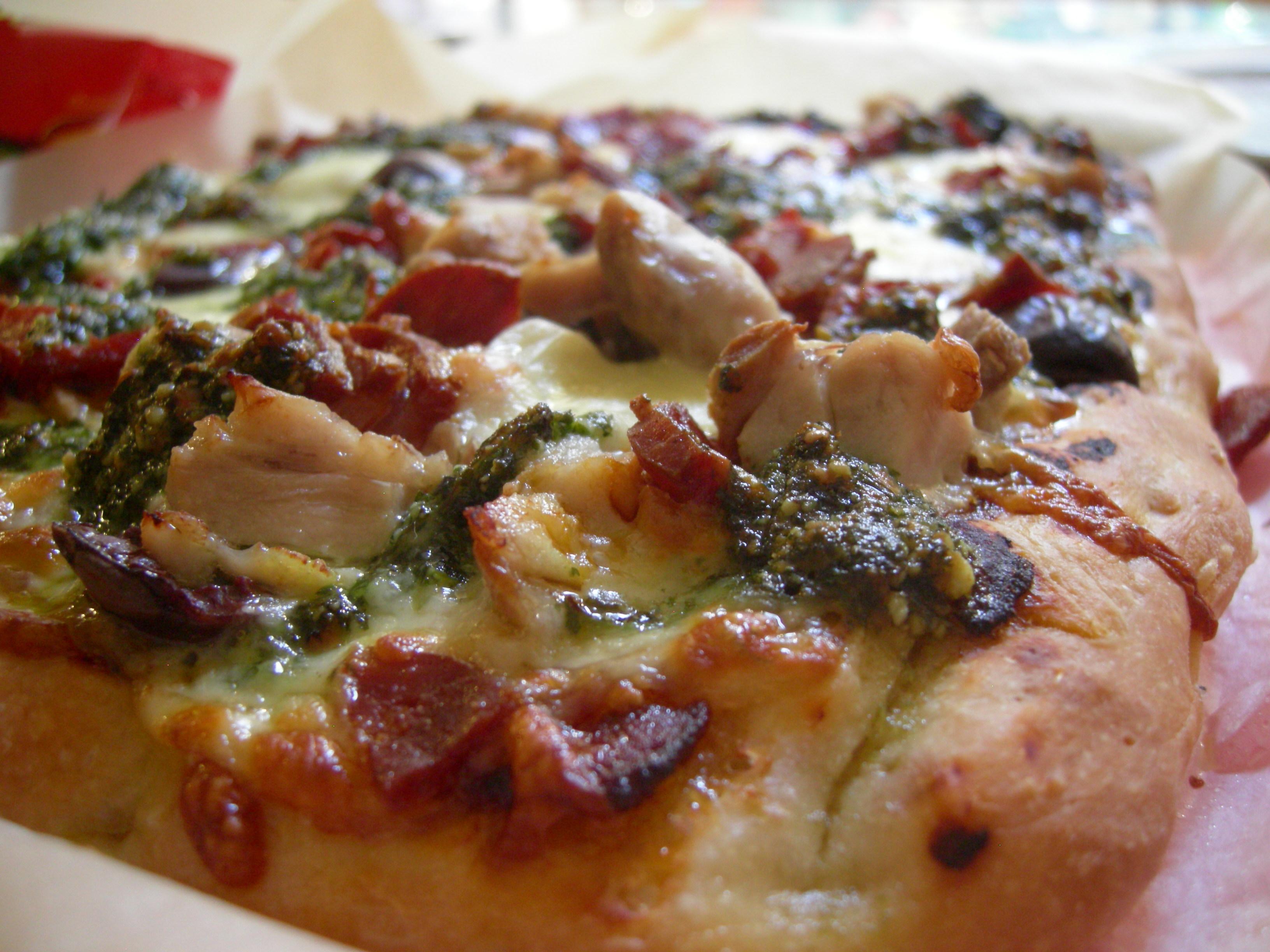 Chorizo Chicken Coriander Pesto Pizza