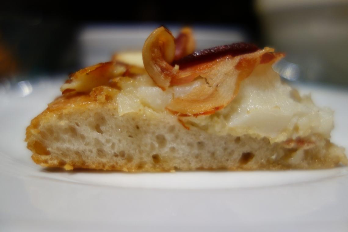 Artichoke, Potato and Pancetta Pizza