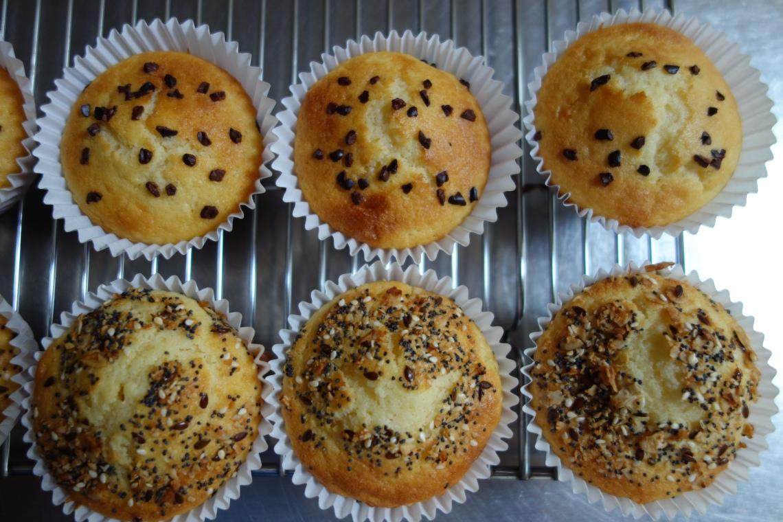 Cocoa Nib and Muesli Muffins