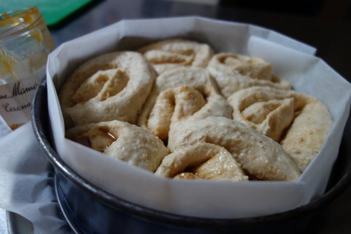 Risen Salted Caramel Scrolls