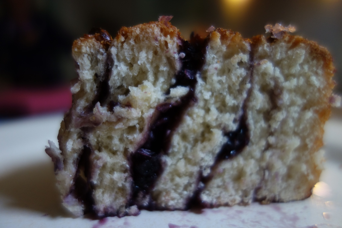 Cross Section of Blueberry Scroll
