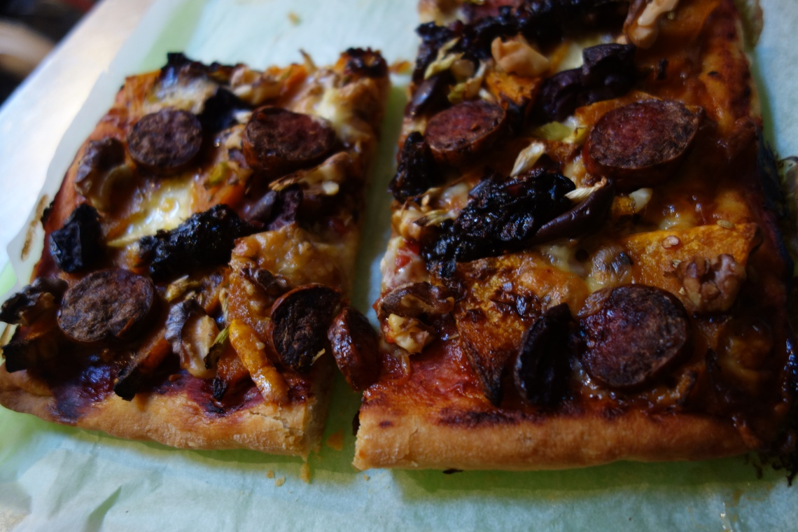 Pumpkin & Chorizo Pizza 1